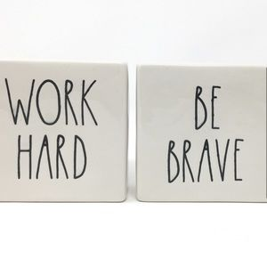 Work Hard & Be Brave Rae Dunn Block